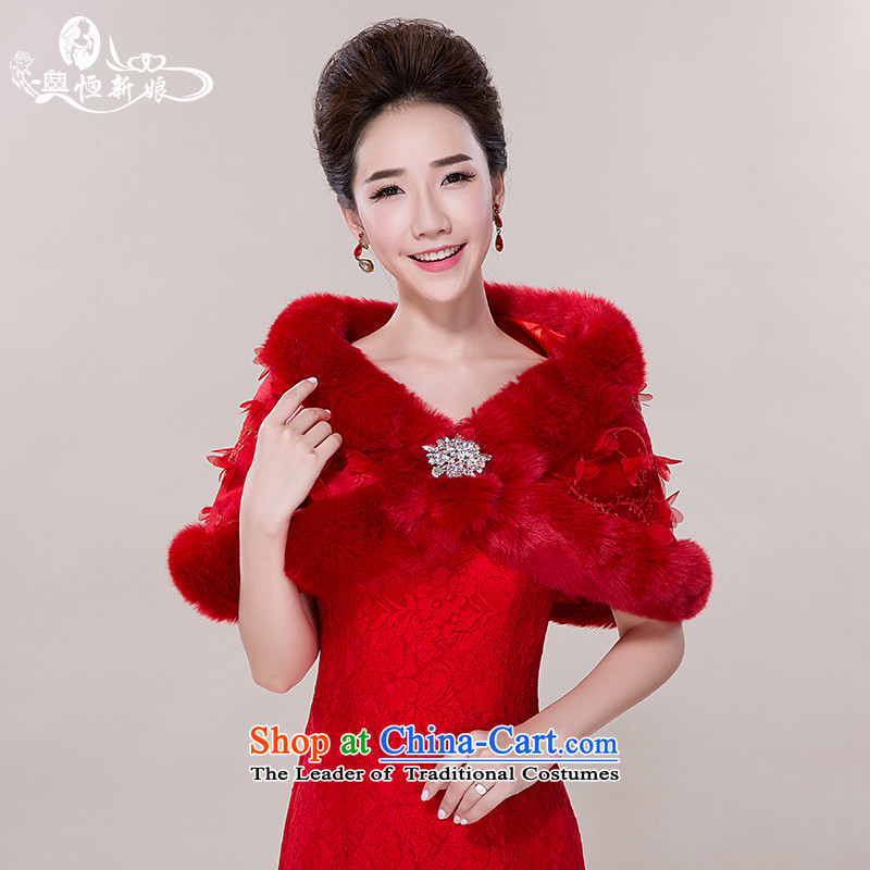 Noritsune bride wedding accessories sleeveless gross shawl 2015 New Red Shawl marriage dedicated accessories Ms. cloak-lace flower large drill shawl red
