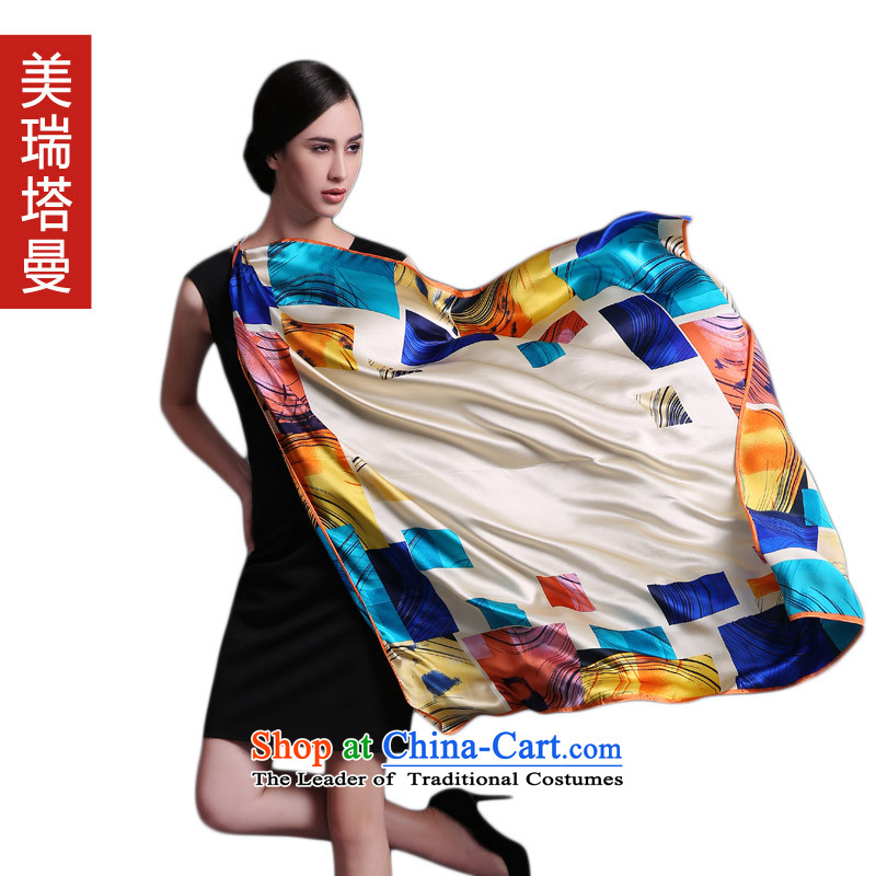 The United States, tagman silk scarves female autumn and winter new and classy towel sauna silk scarf shawl Western Wind yellow