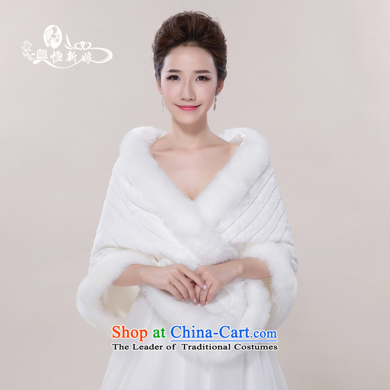 Noritsune bride wedding accessories sleeveless gross shawl 2015 new white-haired marriage dedicated accessories, gross moire large flat white-haired White