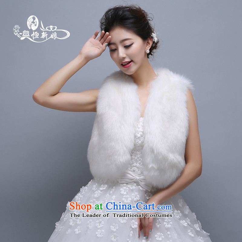 Noritsune bride wedding accessories sleeveless gross shawl 2015 new white-haired marriage dedicated accessories, and Fox clip the gross sleeveless white  White