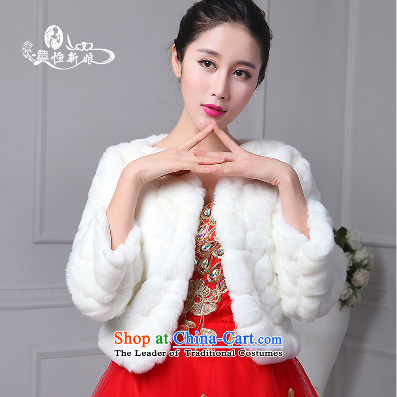 Noritsune bride wedding accessories sleeveless gross shawl 2015 new shawl dedicated accessories, marriage and the fox embossing gross long-sleeved white-haired