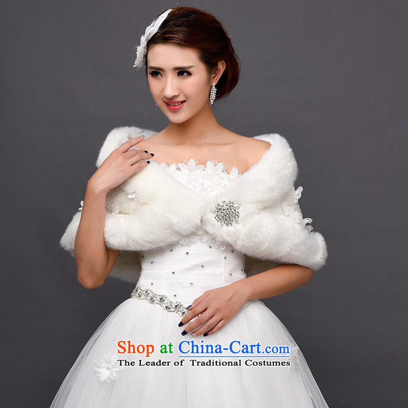 Winter 2015 wedding shawl marriage shawl thick hair shawl Korean bridal dresses shawl shawl Warm White