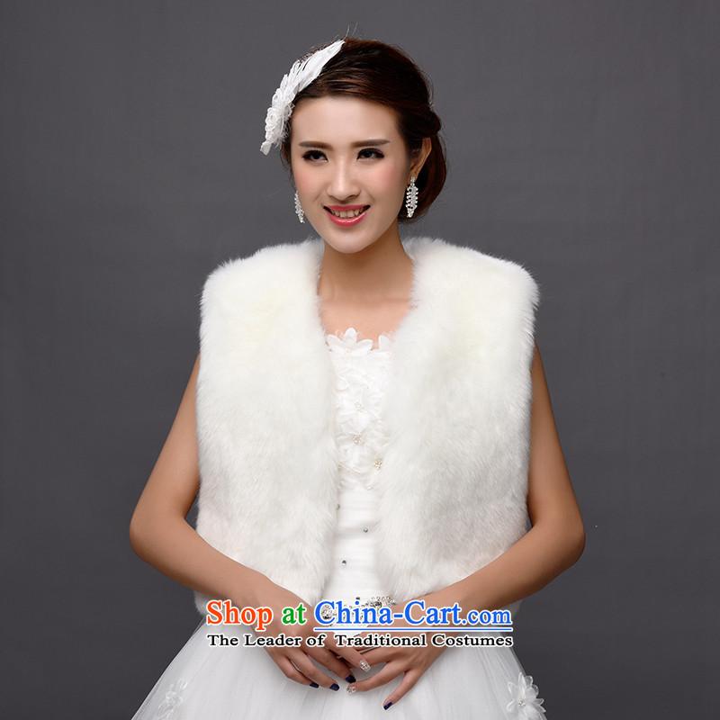 The new bride gross shawl wedding shawl winter coats shawl marriage gross bridesmaid dress shawl thick Warm White