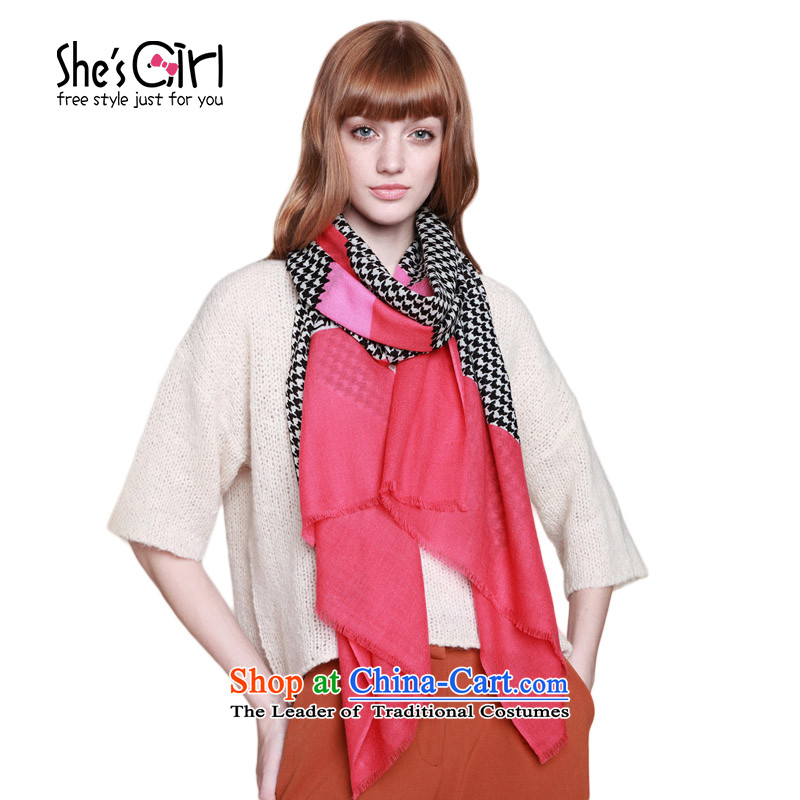 She'sgirl Accessories Classic Chidori Grid Color Plane Collision color manually spell stamp wool Fancy Scarf GSP95193210