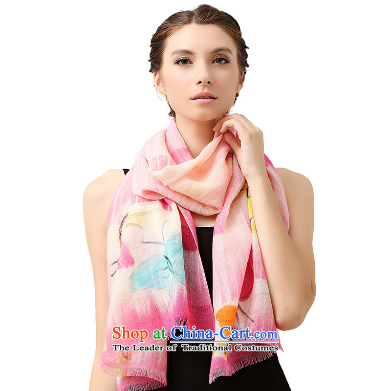 No. The new autumn and winter (glovin) style stylish stamp warm wool Fancy Scarf by using two red