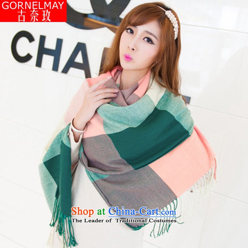 In2015, the Korea Jebel Abu Ghneim Edition Fall Winter Sweater Knit fabric taxi men and women of the scarf wild long air-conditioning with a shawl8020Green Grid are code