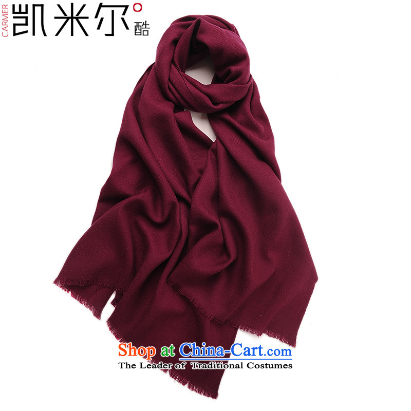 Kemi's core2015 autumn and winter women of color field ribbed woolen shawl scarlet scarf