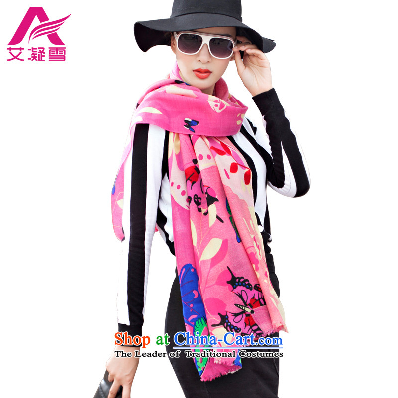 The Korean version of the stylish new 2015 Autumn and Winter Female warm 100% wool scarf stamp large shawl thick aWY26 better red