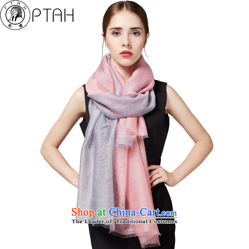 In the autumn and winter wooler scarf herbs extract silk scarves long gradients hand-painted silk scarf4313woolen shawl female Gray