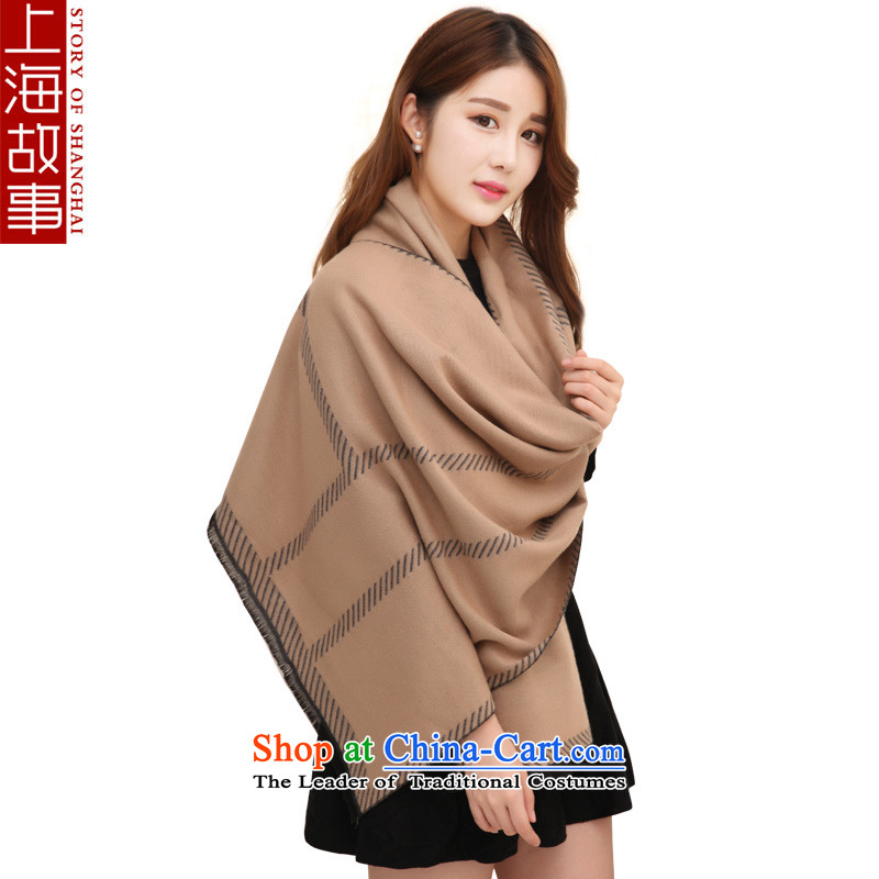 Shanghai Story autumn and winter warm thick scarves, long Leisure Korean wild Indian shawls and a color