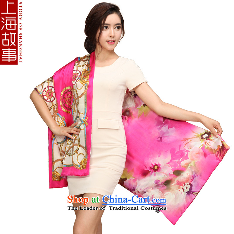 Shanghai Story silk scarves, herbs extract scarf female autumn and winter thick warm shawl on edge to the red