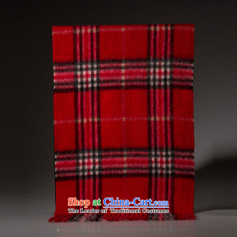 Cashmere wool blend yarn arctic lint-free scarf western children fall and winter warm red.