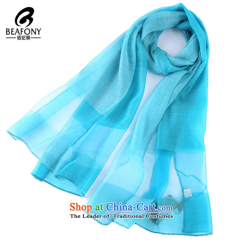 Bai Fei Li wooler scarf women hand-painted gradient warm classic of woolen shawl color blue聽190cm_68cm 4PT261 scarf