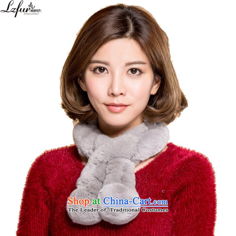 I know fur fur rabbit hair scarf Winter Female warm, rabbit hair a small ball 3165 Gray