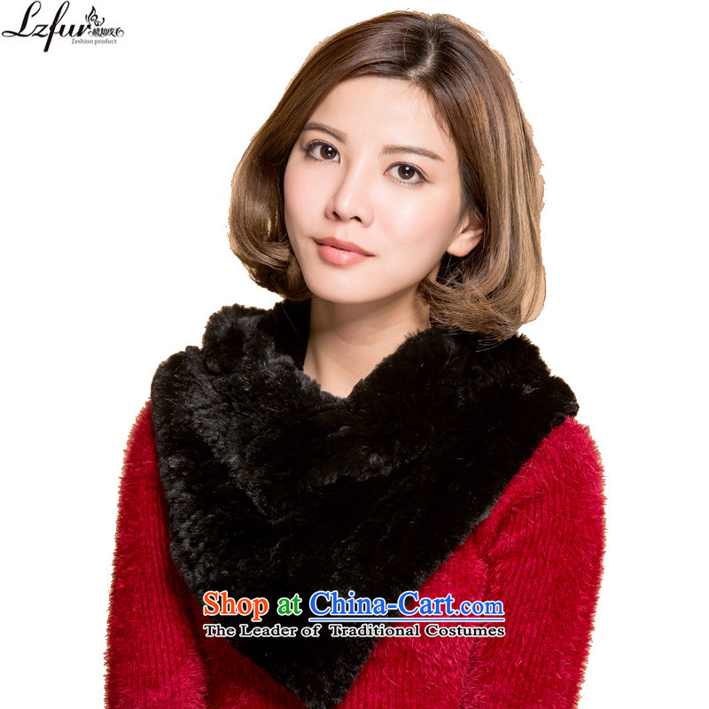 The end of the scarf and fur grass Winter Female a scarf, warm, rabbit hair scarf small shawl female 3166 Black