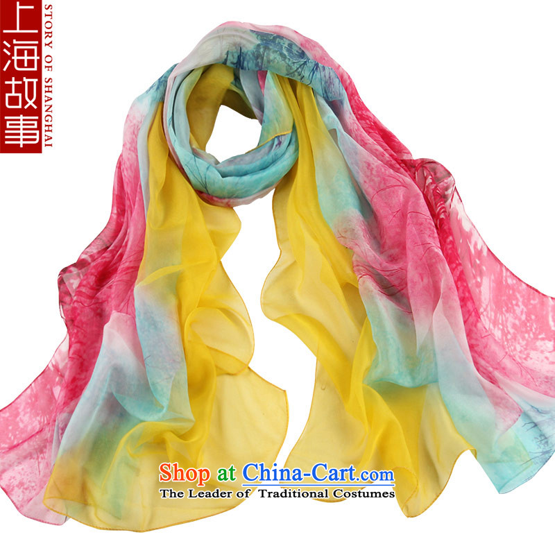Shanghai Story silk scarves silk scarves Jamsil DOS SANTOS President autumn and winter long warm shawl masks in wild a meticulous Wong Hung