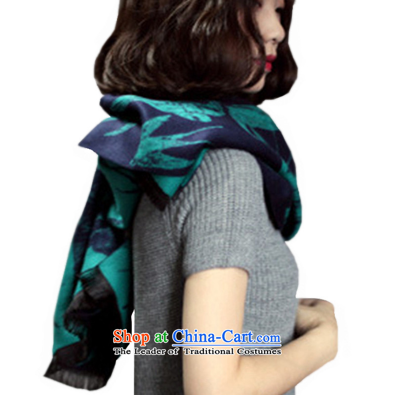 The butterfly scarf girls Lam autumn and winter warm wind swallow flow Western Cape Su pashmina shawl scarves with long, thick two air-conditioning pashmina shawl swallow swallow scarf green