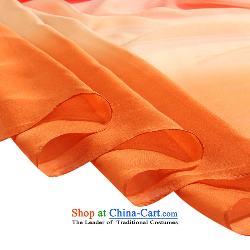 Shanghai Story silk scarves female autumn and winter gradient herbs extract scarf warm shawl Tangerine Orange 71, Shanghai Story STORY & shanghai) , , , shopping on the Internet