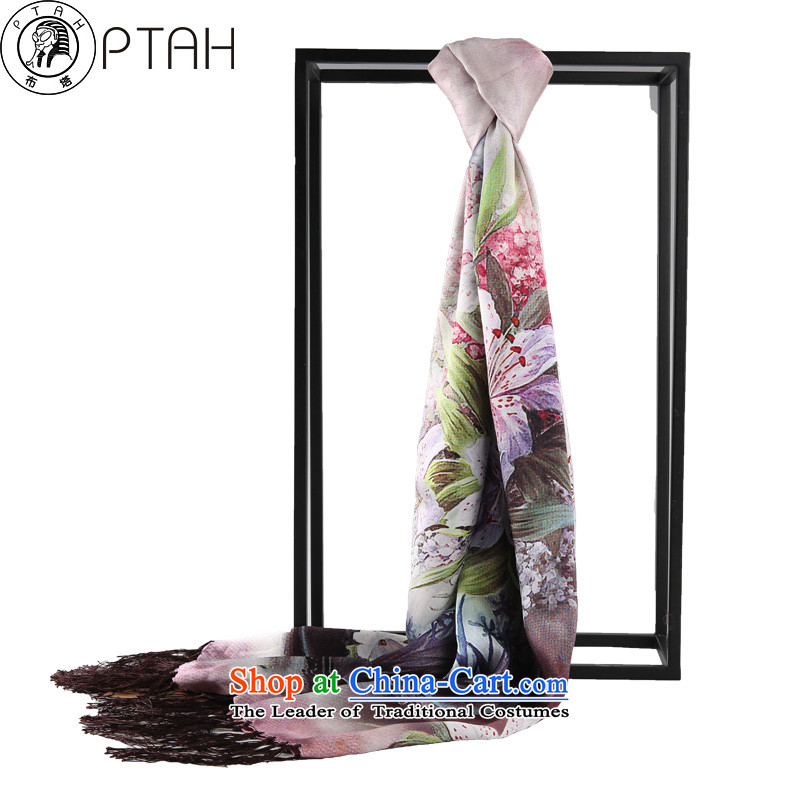 Buta silk scarves female sauna Ms. silk winter autumn and winter long double scarf girl in purple two shawls