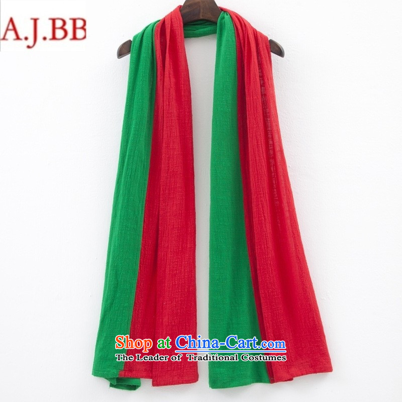 Orange Tysan *XC8262 ethnic costumes accessories 2015 autumn and winter new 2 warm color cotton linen a scarf female red green