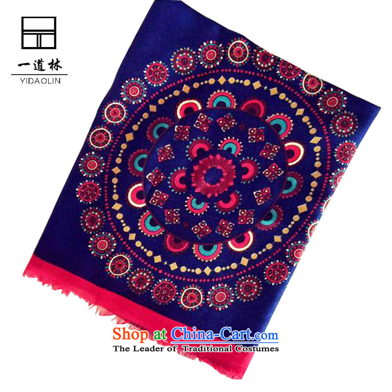 A new 2015-personality of ethnic knocked color cotton shawl retro stamp Fancy Scarf as Shown