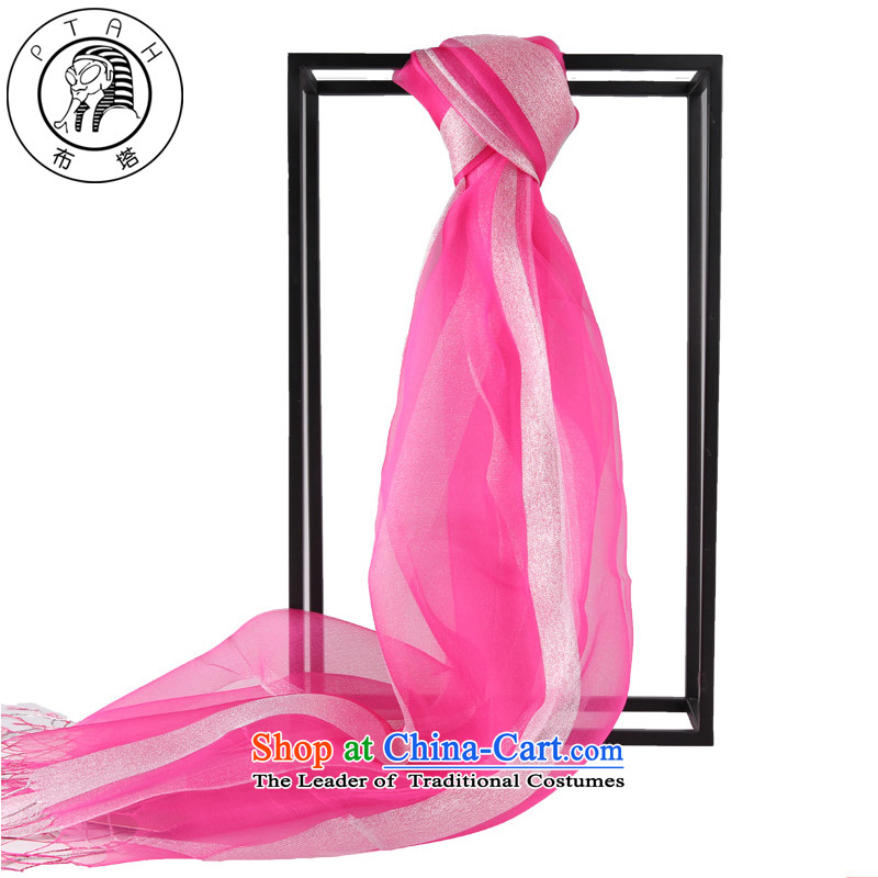 The Korean version of Buta in spring and autumn wild new OSCE root yarn metal blended edging scarf silk scarf shawl female in the red