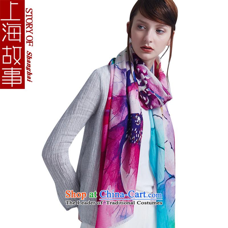Shanghai Story wooler scarf upscale Korean female winter shawl a new Lotus Pond