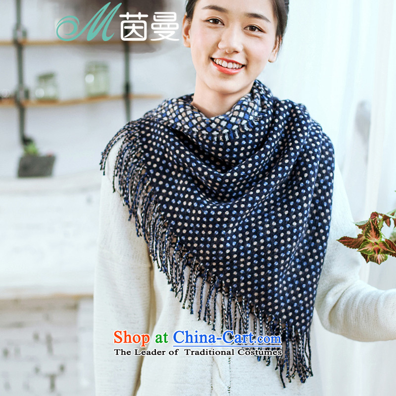 Athena Chu Cayman2015 autumn and winter new arts wave point jacquard edging women and two elections as soon as possible with the end of the scarf 853140182 dark blue with dark blue