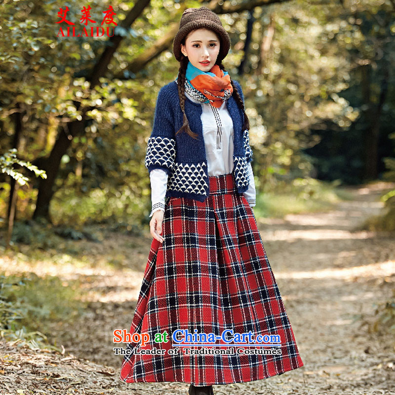 The Aileu degrees 2015 autumn and winter new Wild Women fancy cotton linen towels to long range arts shawl FA1015_1729 Orange & Blue