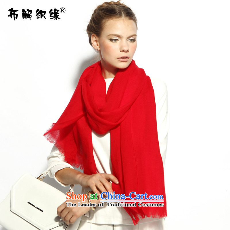 The leading edge of the weaving autumn and winter-New Pure color woolen scarves, wild with two long Red Shawl