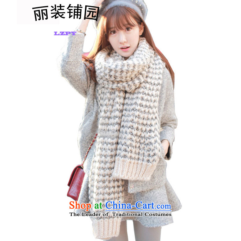 Replace with Park, 2015 autumn and winter Knitting scarves knitted warm white are Code 155 female