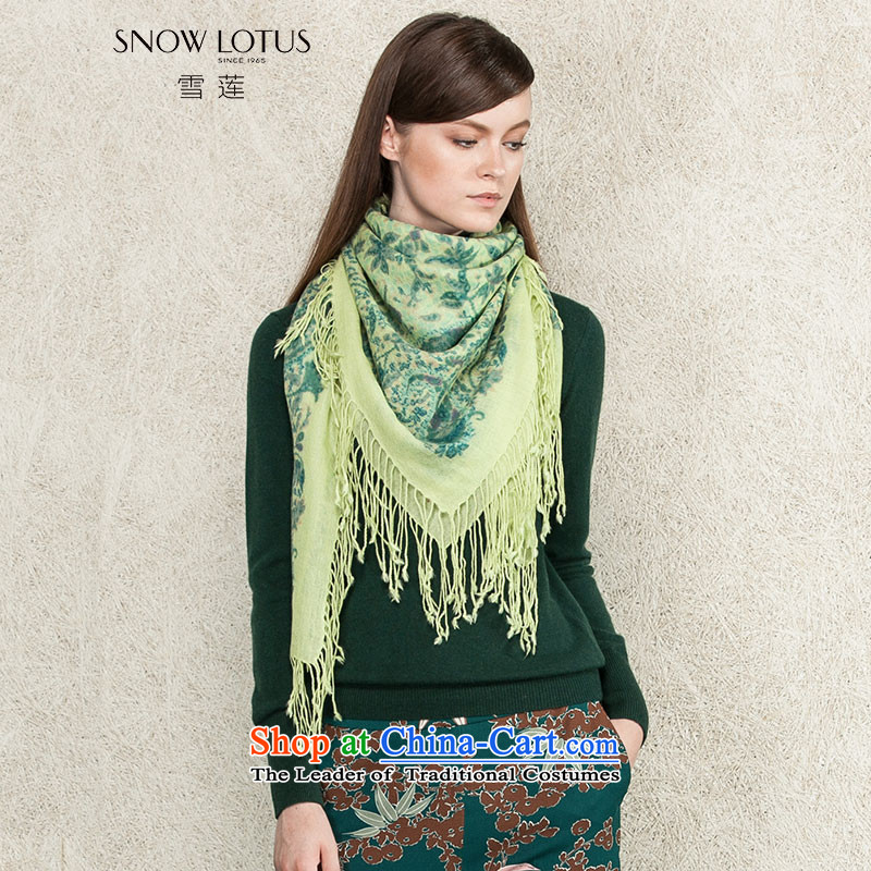Shirley 2015 autumn and winter new products long wild stamp pashmina green E422 are code
