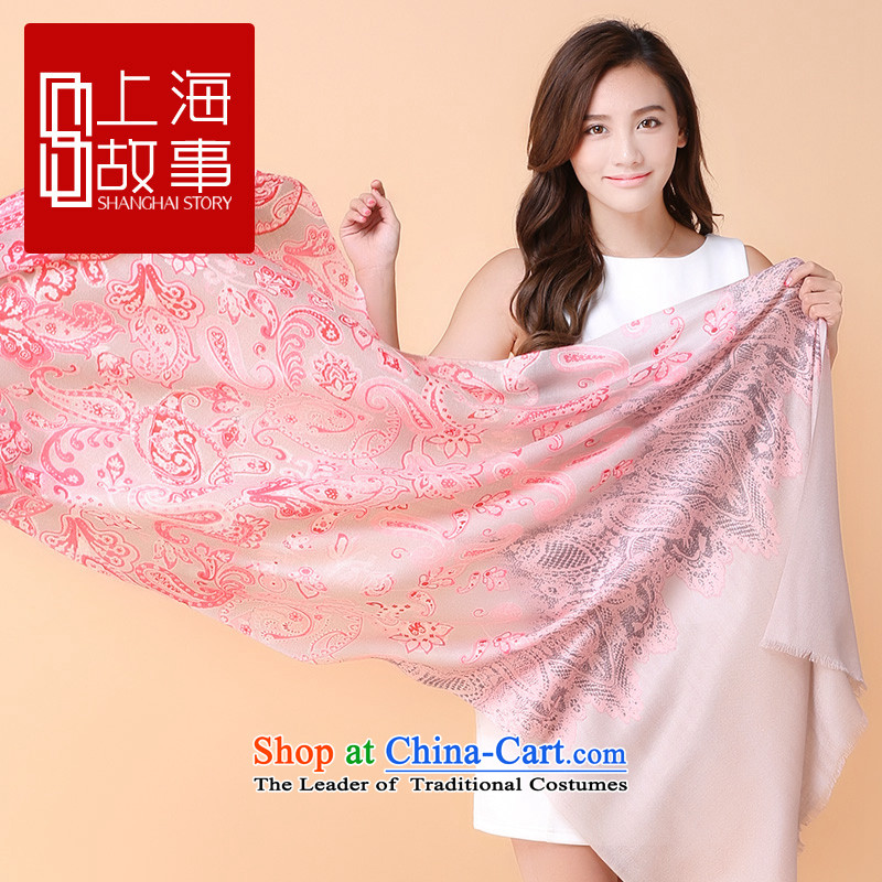 2015 new products Shanghai Story wooler scarf female autumn and winter new products warm longer Fancy Scarf Yee-lai Yee-lai cashew nuts - cashews by red