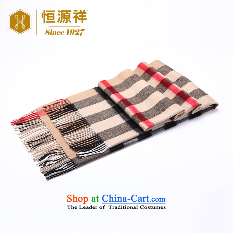 Ms. Cheung Hengyuan wool large shawl autumn and winter new thick Classic Grid Pure Wool Fancy Scarf two shallow and grid70*200