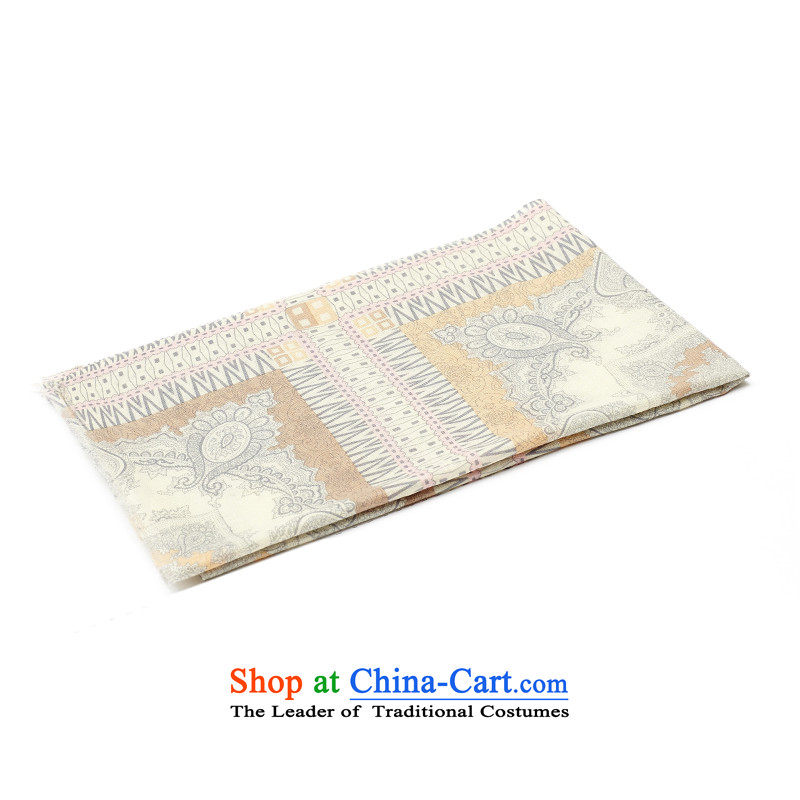 Ms. Cheung Hengyuan stamp scarf of autumn and winter 2015 new digital printing plain wool Fancy Scarf two large beige聽184_65 stamp