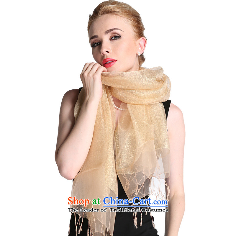 Europe ASTORY autumn and winter silk scarf shawl stretches two-sided wire dual-use light blond