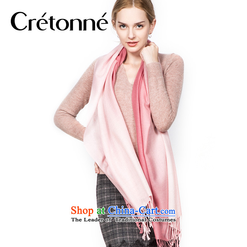 Cretonne wooler scarf autumn and winter, gradient brushed warm, handkerchief also pink B pink gradient