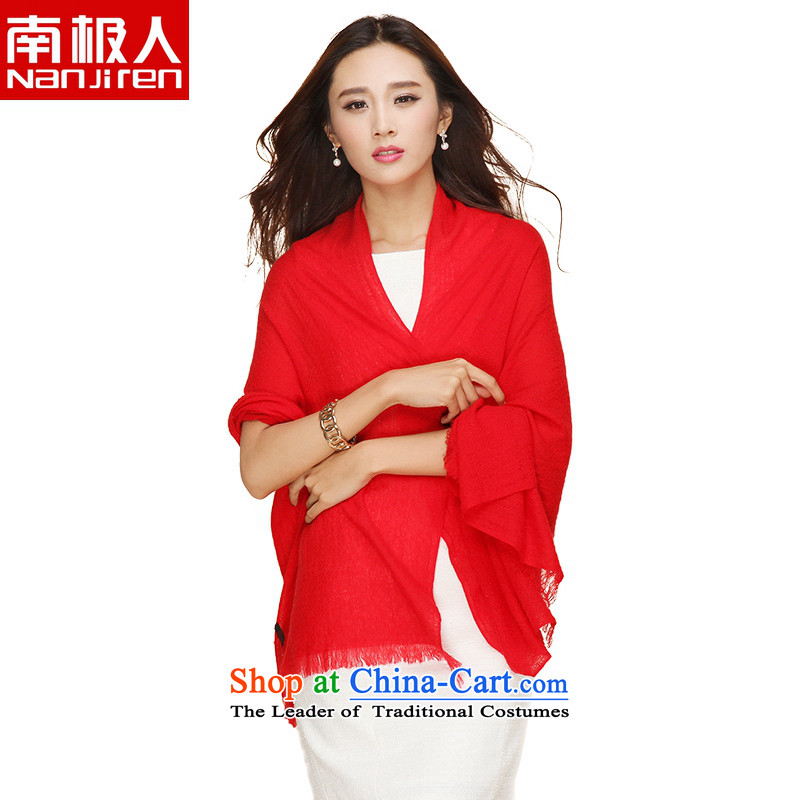 Antarctic people new 2015 Wild Plain color leisure Korean pashmina large red