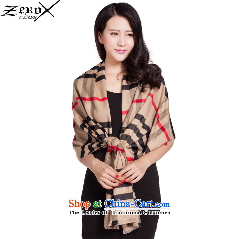 Zeroxclub autumn and winter warm a classic grid Ms. scarves shawl dual-use universalPJ-815 men