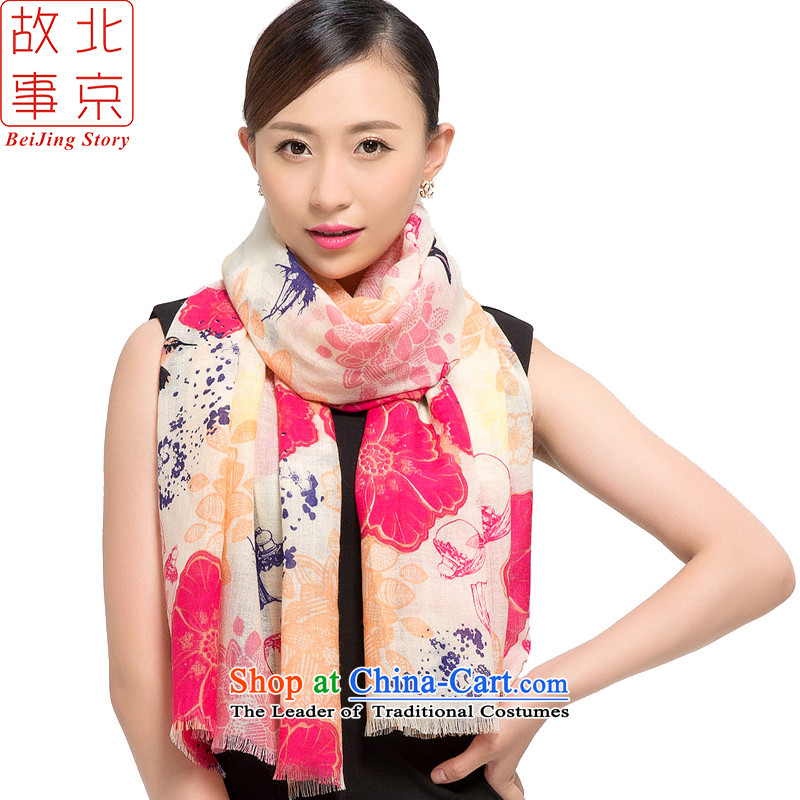 Beijing2015 new story wool stamp scarves, warm winter long shawl ballad178012in red