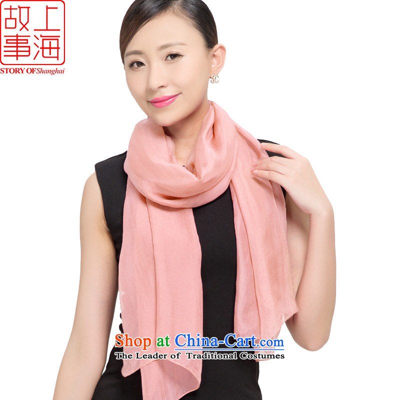 Shanghai Story 2015 new silk scarves female summer sunscreen herbs extract beach towel gittoes scarf pure sky 187067 Pink