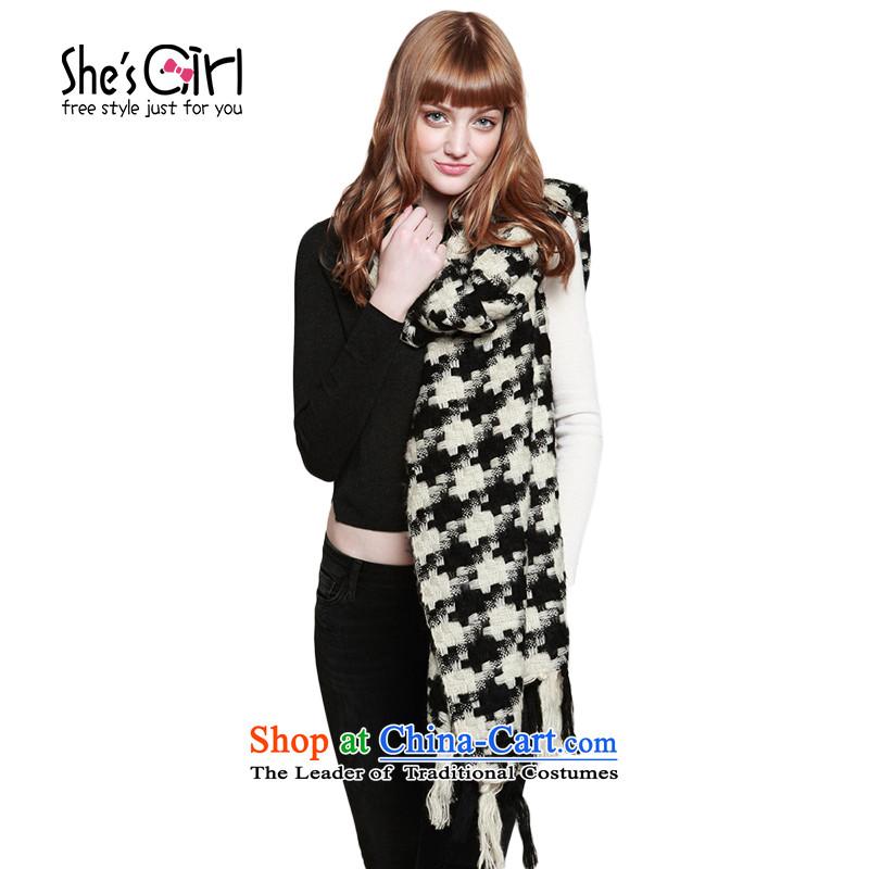 She'sgirl England pixel chidori grid, multi-use shawl fluffy a thick scarf GSP9519410 G0