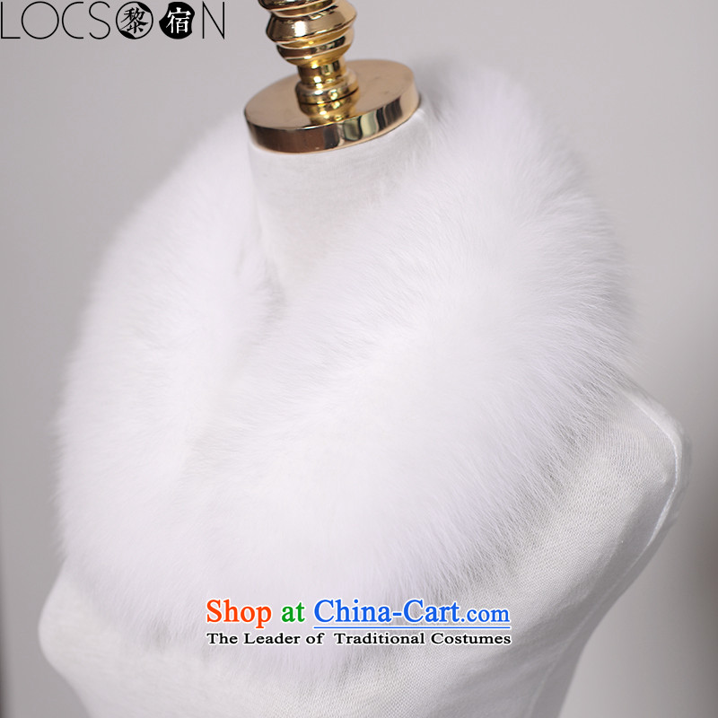 (Lai night) LOCSOON autumn and winter thick warm gross a fox chokeholds fur muffler Fox to collar scarf white collar gross