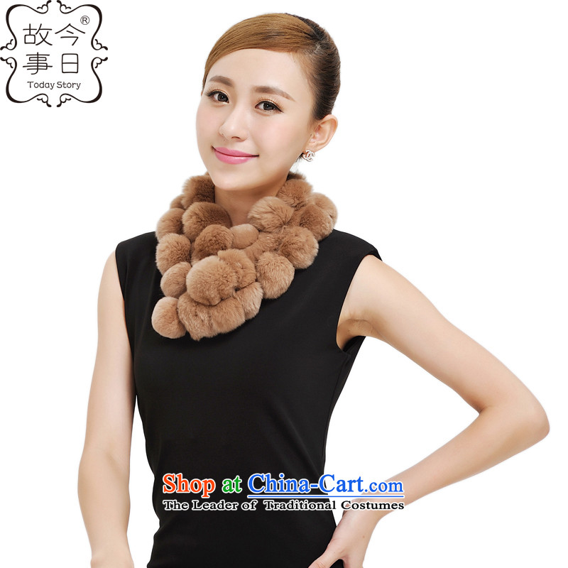 Today new story of autumn and winter Korean a warm process, rabbit hair scarf autumn and winter Korean 28 goals of fursand colors of the girl 177033