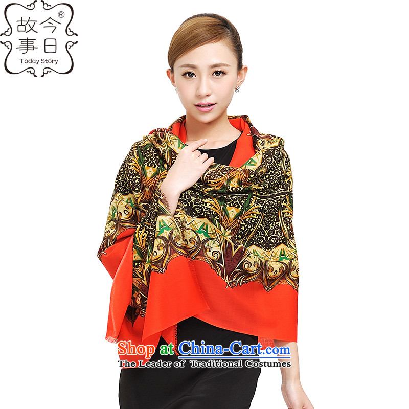 Today new story of autumn and winter Korean president sexy jungle 100S o wooler scarf extension increase wild shawl 177035 Red