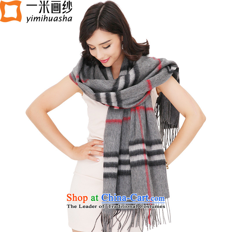 One meter animation yarn 2015 winter intensify thick wool Plaid Ms. scarves warm shawl Gray