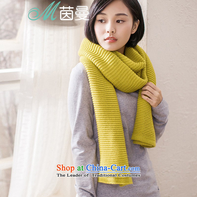 Ms. Yan Knitting scarves 2015 autumn and winter New Solid Color warm female Fancy Scarf two elections as soon as possible with the yellow Kang Kang 854140278 yellow
