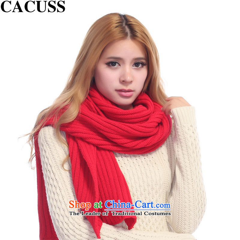The end of the scarf male winter CACUSS solid color warm large men of the scarf scarf W0029 red 210*35cm couples