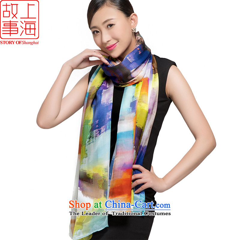 Shanghai Story 2015 silk scarves, Satin Poster digital large scarf herbs extract shawl 178057 gentle Time