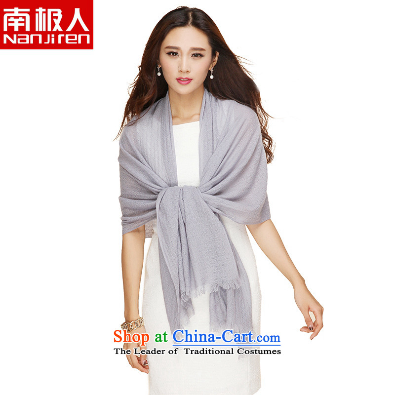 The Antarctic (nanjiren) autumn and winter, Ms. pashmina wild plain color leisure series shawl a gray